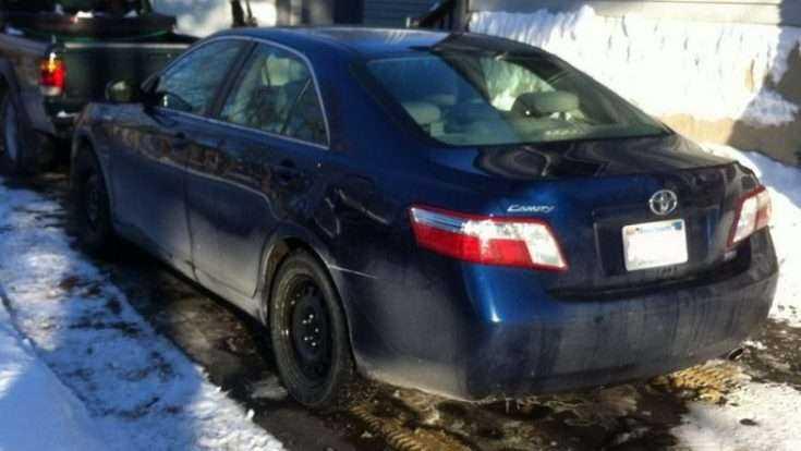 Toyota Camry зимой