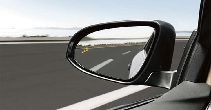 Обзор через зеркало заднего вида