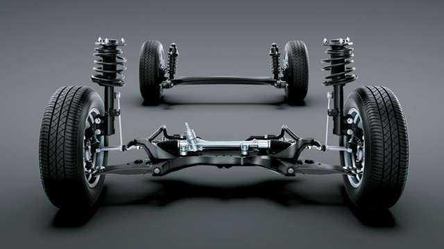 Изображение устройства подвески Toyota Corolla
