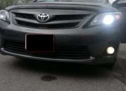 Свет фар Toyota Corolla