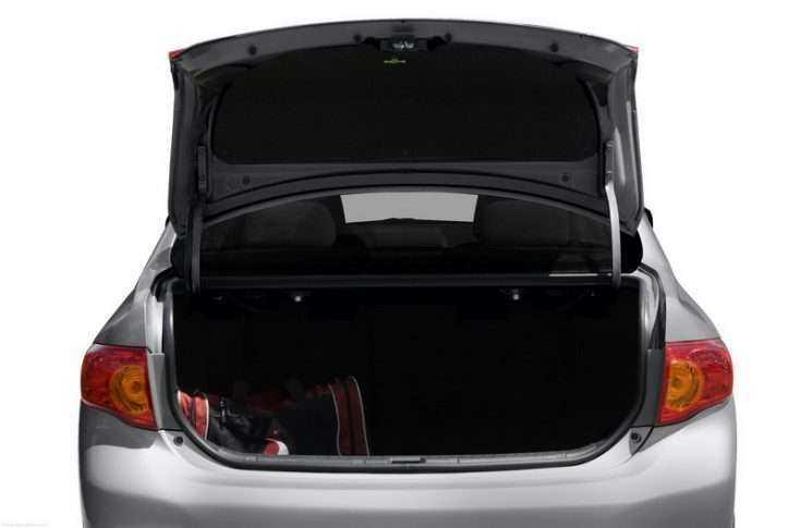 Вместительность багажника Тойота Королла 2013