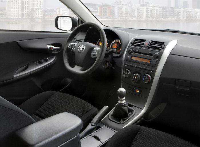 Качественное фото интерьера Toyota Corolla