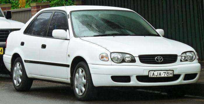 Фотография ресталинговой Тойота Королла 1998-го года