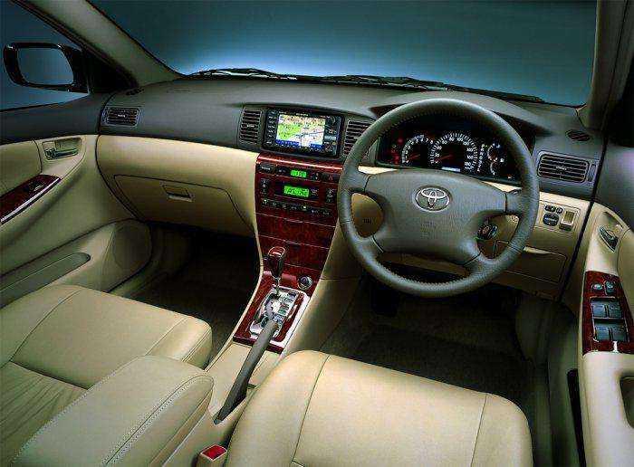 Фото салона праворульной Toyota Corolla